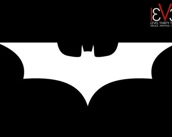 Vinyl Decal - Batman Dark Knight Logo - Car, Window, Wall, Laptop Sticker