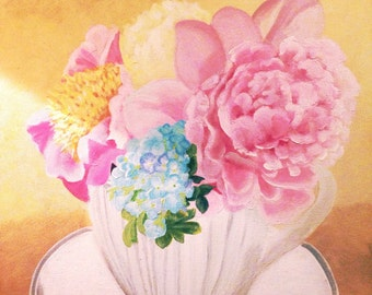 Floral acrylic painting. Home decoration paintings.