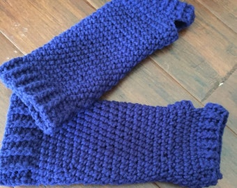 Arm warmers with ribbing