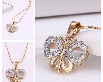 Bautiful Butterfly Necklace GoldPlated