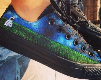 Astronaut in field custom Converse shoes
