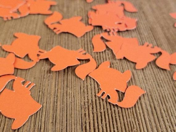 fox confetti baby fox decorations fox baby shower decorations