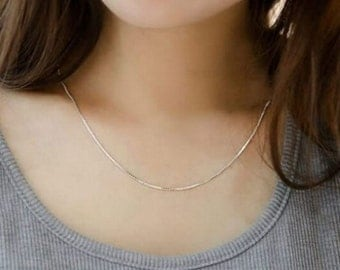 Simple white sterling silver Chain