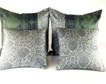 Bed Pillow Set, Pure Silk Pillows, Big pillow, Throw Pillow Set, Couch pillow set, Grey Pillow set, Designer pillow set, Luxury pillow