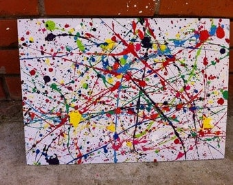 Paint and ink on canvas boards