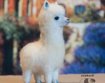 Alpaca, needle felted toy, alpaca animal toy, llama toy, felt alpacas, soft sculpture, home decor