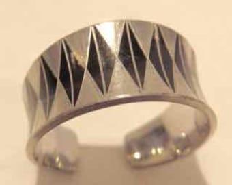 Jargen Jensen Pewter Ring - internationally recognized Danish jewelry designer