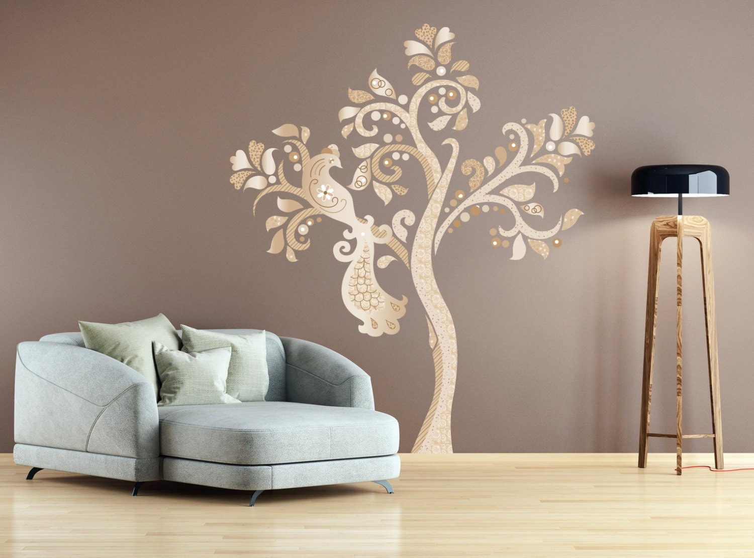 Tree of life decal wall decals wall stickers tree of life for Bordi adesivi decorativi
