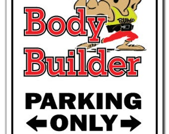 Body Builder ~Sign~ Muscles Steroids Man Sport Gift