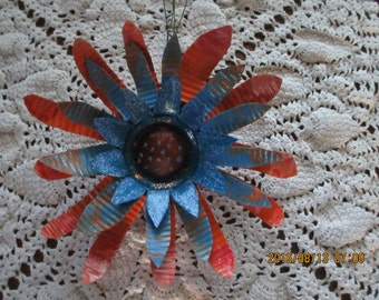 Recycled Metal Flower/ Garden Art