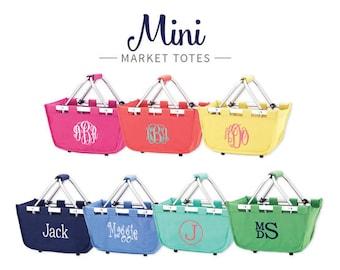 Monogrammed Mini Market Totes