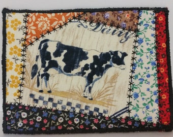 Cow Quilted Postcard