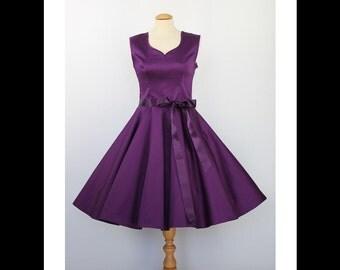 Purple evening dress prom dress