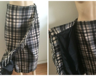 Wool Wrap Maxi skirt / Winter Maxi Skirt / Navajo skirt