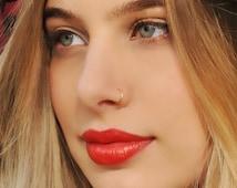 NOSE RING, Nose Hoop, 24 22 20 Gauge, 14K Nose Ring, Gold Filled Nose Ring, Nose Hoop, Gold Nose Ring, Gold Filled Nose Hoop