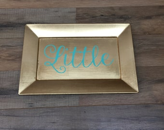 Big or Little Gold Tray