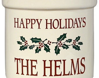 Holiday Ceramic Crock