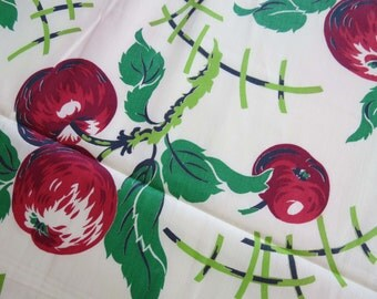 Apple Print Fabric Cottage Chic 5 YARDS 100% Cotton Fabric.