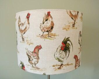 COUNRTY HEN LAMPSHADE - handmade 20cm, 30cm,40cm