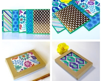 Boxed Note Card Set, Luau Card Set, Blank Note Card, Tropical Note Card, Set of {6}