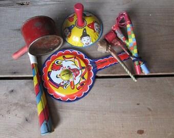 Clown Noise Makers Vintage Children's Party Toys