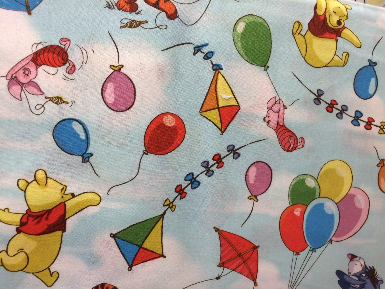 Disney Winnie The Pooh Kites Amp Balloons Fabric Featuring