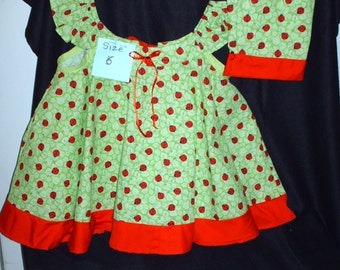 Lady bugs for a little lady! One of a kind.size 6