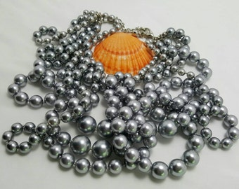 Faux Gray Pearl Necklace