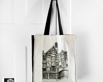 Liberty of London tote bag - large illustrated cotton canvas tote bag