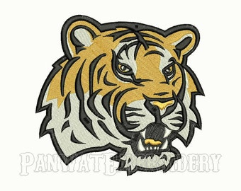 7 Size LSU Tigers Logo Embroidery Designs, Machine Embroidery Designs, College Football Embroidery Designs - INSTANT DOWNLOAD