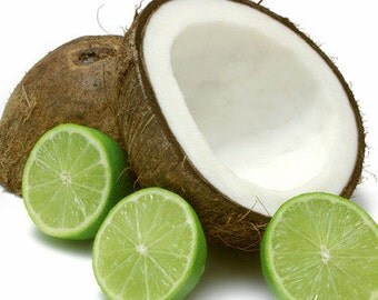 Coconut Lime Verbana Scented Soy Candle