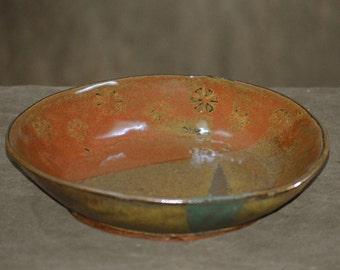 Brown Flower Bowl