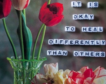 healing differently POSTCARD