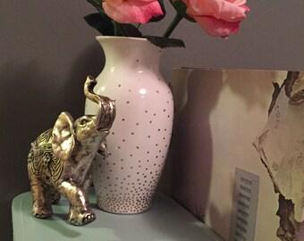 Gold Dot Flower Vase
