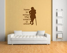The Hobbit Sticker wall art room wall sticker/hobbit/bilbo baggins/wizard/film/book/game wall sticker