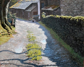 Side Farm, signed, limited edition print of my original oil painting