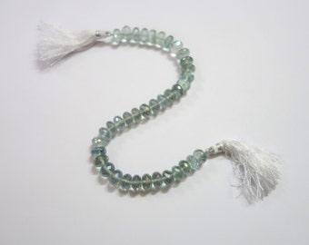 Green Mystic Coated Quartz Faceted Rondelle , Coated Quartz Rondelle Beads