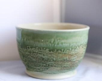 Hand thrown mixing bowl