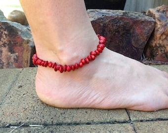 Red Sandalwood Seed Anklet