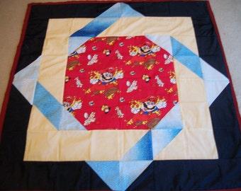 "Newly Handmade Mario Quilt*Nintendo Quilt*Complete Quilt*Size 42""*Rare 1999 Fabric*OOAK*Handmade Quilt*Nintendo Blanket*Mario Blanket*Gaming"