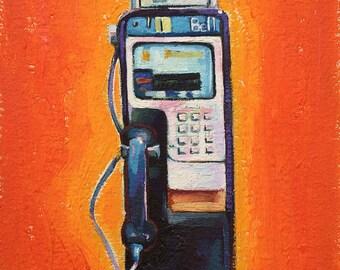 Little Pay Phone on Orange