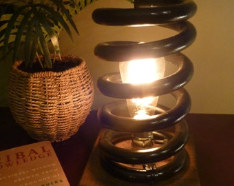 Accent Light, Recycled, Reclaimed, lamp, Industrial lamp, Rustic Lamp, Reclaimed