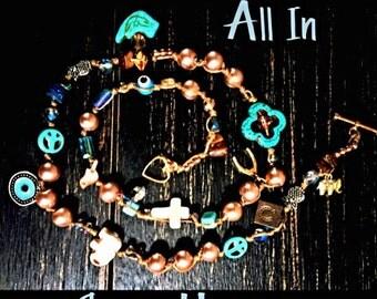 LuckyRaps(TM) All In One wrap bracelet by SpaceHippy(TM)