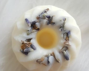 Lavender - Soy Wax Tarts - Mini Bundt Cake Tarts - Wax Melts - Tarts - 8 pcs - Aromatherapy - Infused With Organic Herbs - 4 oz Total