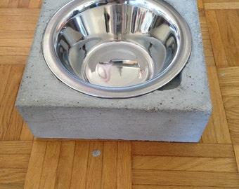 Dog bowl, cement, Bentonnapf