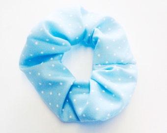 Baby blue scrunchie