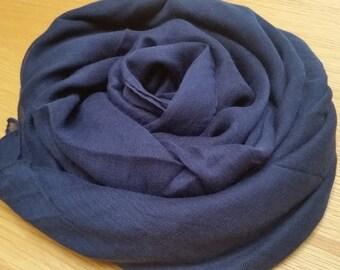 Dark Navy Blue plain scarf/hijab
