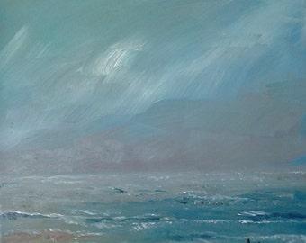 From rain, oil painting, original art, original wall art