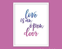 Unique love is an open door related items | Etsy