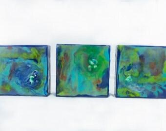 Three Original Encaustic Paintings
